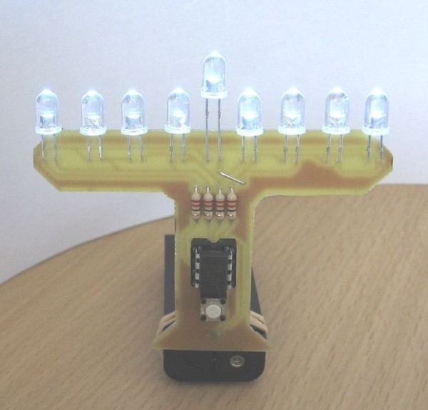 A more stylistically simple menorah.