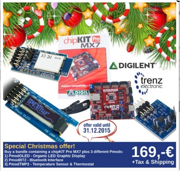 Trenz, PIC32, Pmod, Germany, Digilent, Microchip