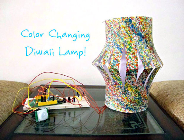 Make a lamp that changes colors for your festival of lights!