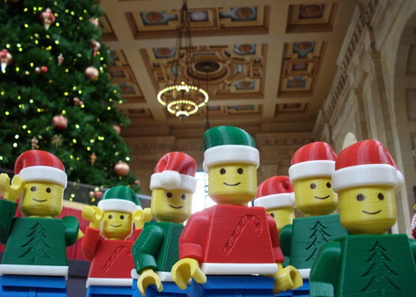 Take your Legos to your next Ugly Christmas Sweater party!