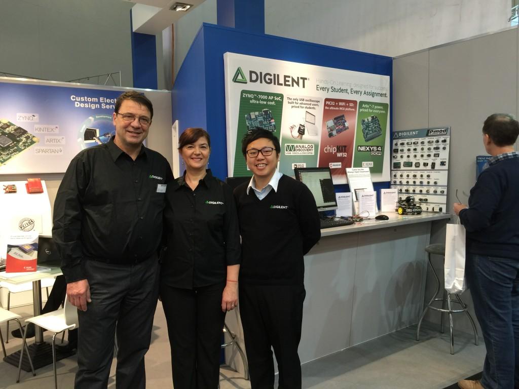 Digilent Team in Embedded World 2015
