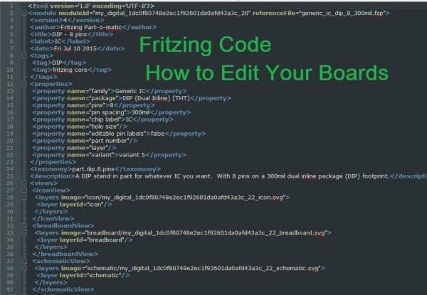 Fritzing Code photo and Instructable found here.