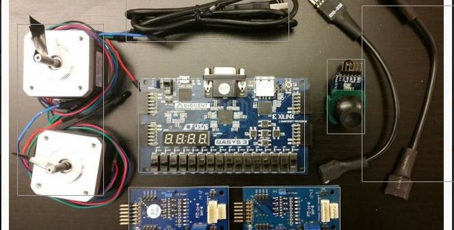 Using The Pmodjstk To Control A Stepper Motor With The Basys 3