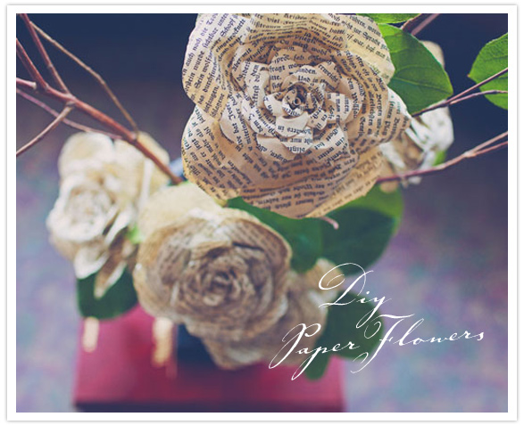 Learn how to make your own newspaper flowers here.