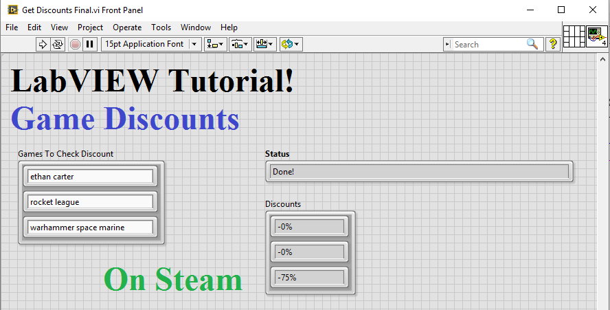 LabVIEW Tutorial: Game Discounts – Digilent Inc  Blog