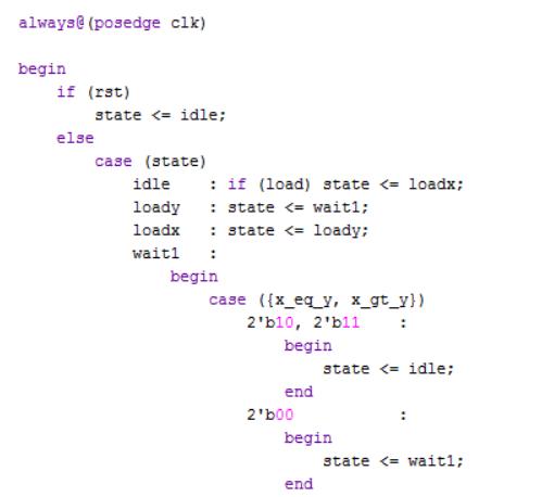 Piece of Verilog code