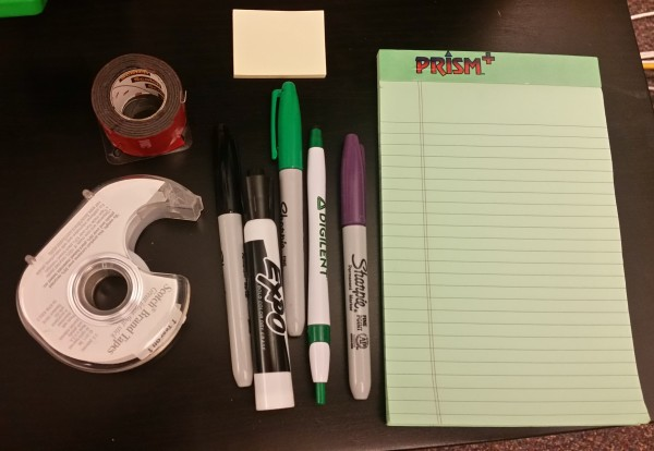 Office supplies, often times I've wanted to take note of how a demo failed or make a list of supplies I need to fix it. Pens, pencils, markers, sticky notes, tape, mounting tape, oh my!