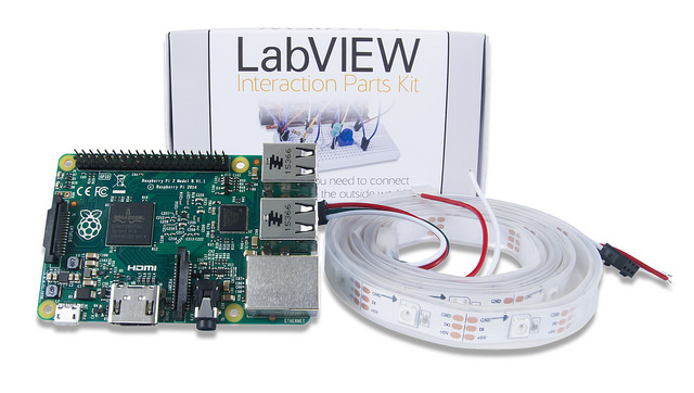 A nice preview of the LabVIEW Interaction Parts Kit bundle with RPi, that will be out later this month.