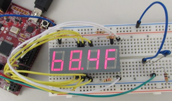 Using a thermistor with a seven-segment display.
