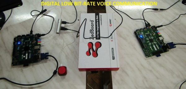 Digital low bit-rate voice communication