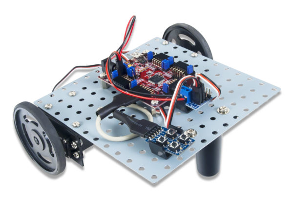 Scout harsh environments and distract ravenous beasts with the SRK Basic robot kit.