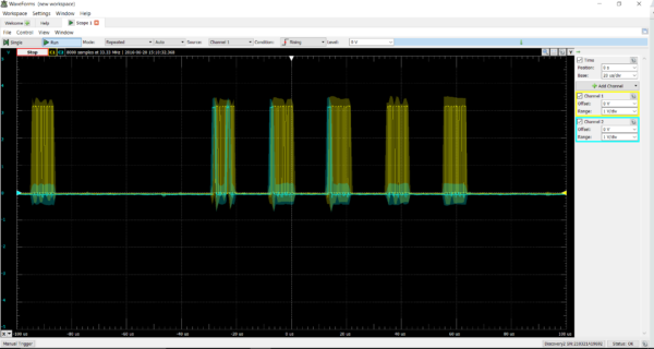 What I was attempting to decipher from the oscilloscope