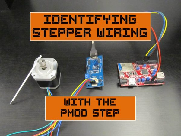 Identifying Stepper Wiring with the PmodSTEP