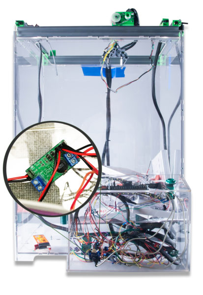 The VRM is used in the claw game to power the 3 stepper motor drivers and the Basys3 board.