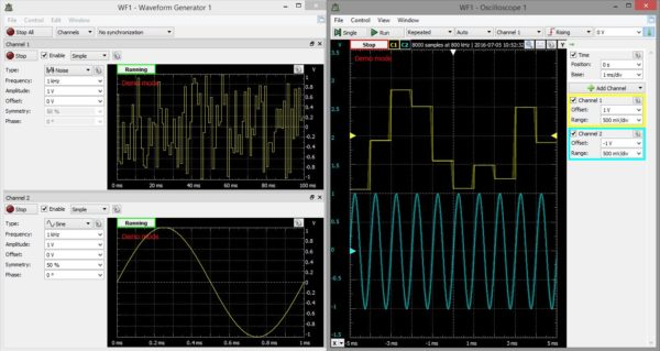 wavegen+oscilloscope