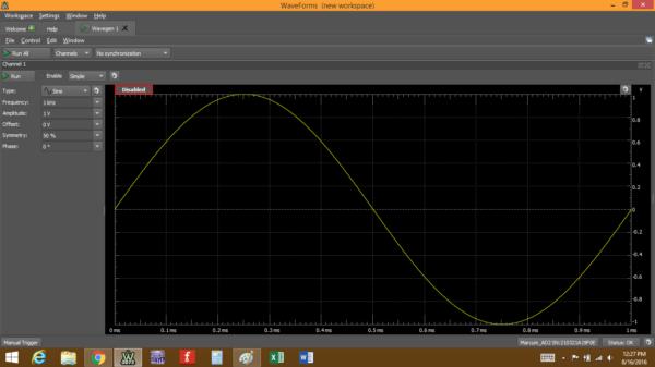 A simple sine wave.