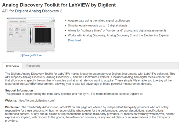 Analog Discovery Toolkit for LabVIEW – Digilent Inc  Blog