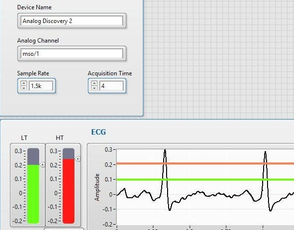 DIY ECG Using an Analog Discovery 2 and LabVIEW – Digilent