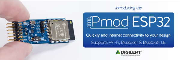 Need IoT? Check out the Pmod ESP32 ! – Digilent Inc  Blog