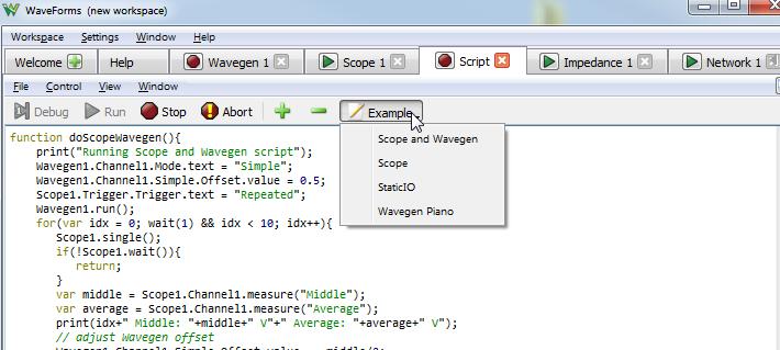 Where Can I Script in WaveForms? – Digilent Inc  Blog