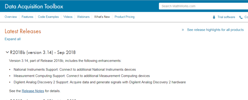 The Analog Discovery 2 Is Now Supported In The MATLAB Data