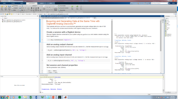 More With MATLAB And The Analog Discovery 2 – Digilent Inc  Blog