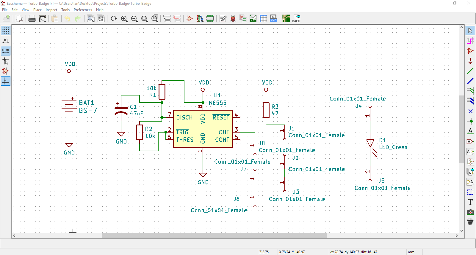 The Turbo Badge PCB Design Experience in KiCad – Digilent