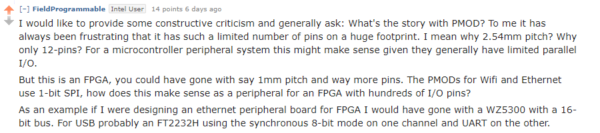 Question from Reddit - What about Pmod?
