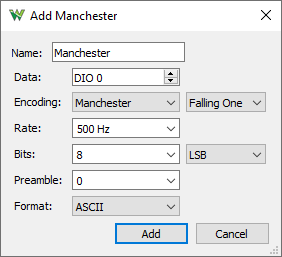 Adding Manchester Setting in WaveForms
