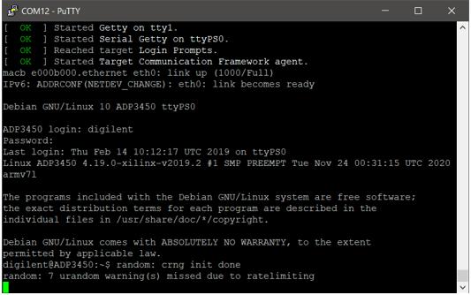 Screenshot of linux mode