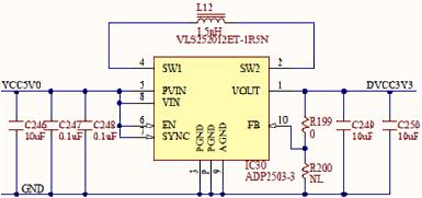 Figure 32. 3.3V internal digital supply.