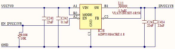 Figure 33. 1.8V internal digital supply.
