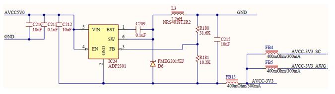 Figure 29. -3.3V internal analog power supply.
