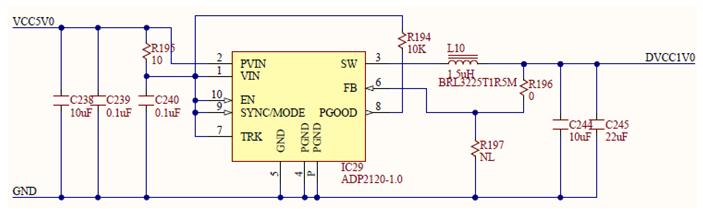 Figure 31. 1V internal digital supply.