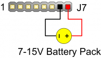 Figure 3.2. Arty A7 Battery Pack Connection.
