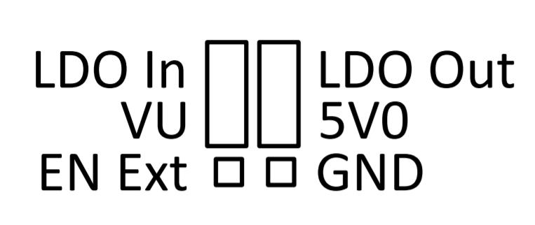 Pin arrangement of using the 5 V regulation