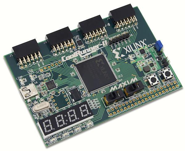 The CoolRunner-II Starter Board.