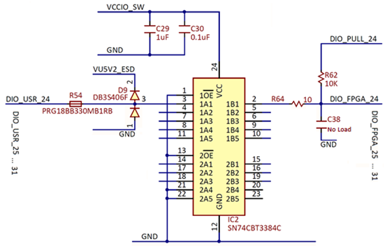 Figure 4. I/O level translator.