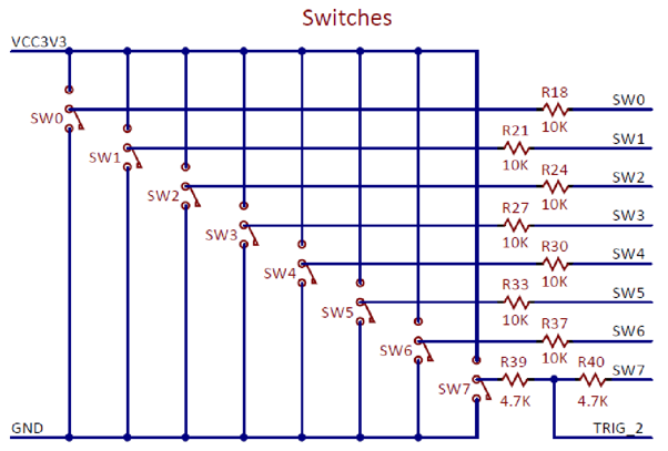 Figure A.2. Basys MX3 slide switch schematic.