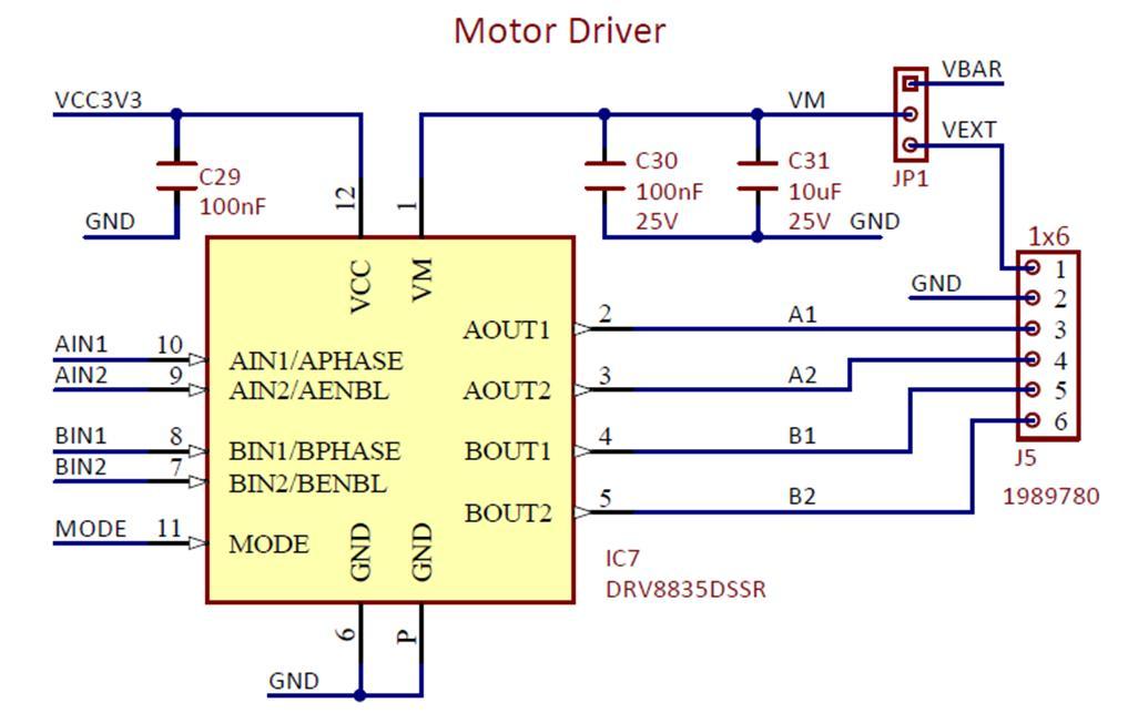 Figure 7.11. Basys MX3 Motor driver circuit.