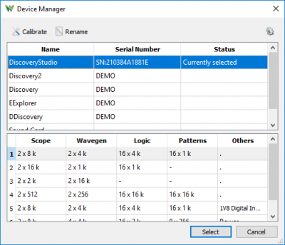 Device manager window.