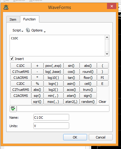 Figure 11. Function tab.