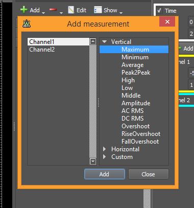 Figure 24. Add measurement window.