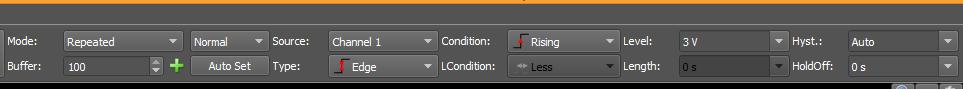 Figure 37. Trigger option settings.