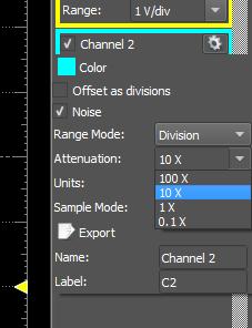 Figure 52. Channel settings.
