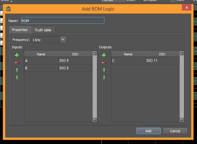 Figure 36. Add ROM Logic window.