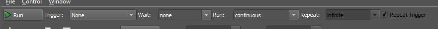 Figure 6. Run/Stop tool bar.