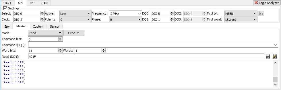 Figure 11. SPI tab.