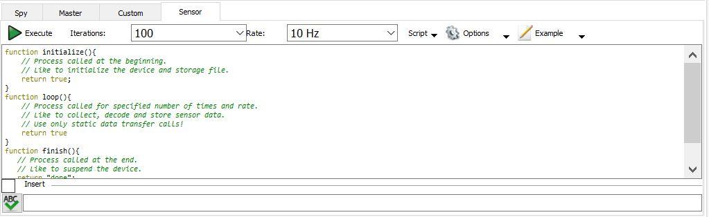 Figure 21. I2C Sensor tab.