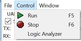 Figpure 4. Control menu.